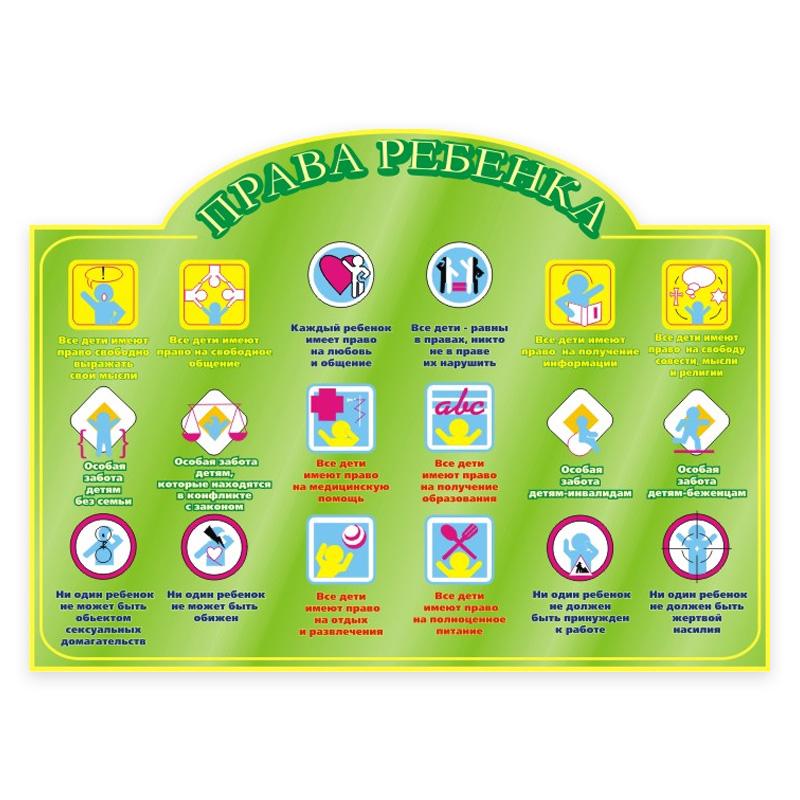 Оформление стенда права ребенка в детском саду