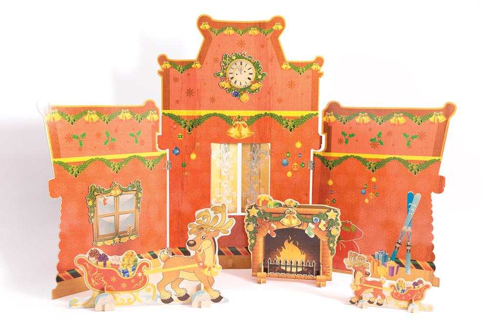 Рождественский олень с санями мини - купить по лучшей цене ...