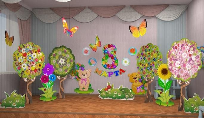 Оформление стены на выпускной в детском саду