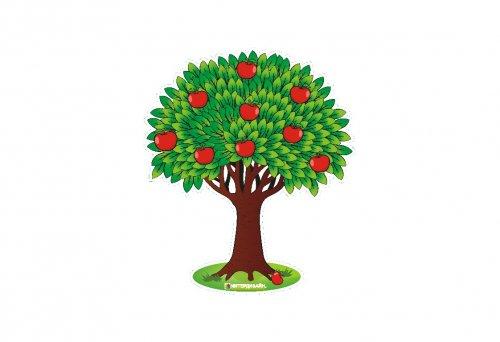 Наклейка интерьерная Дерево с яблоками - купить по лучшей ...